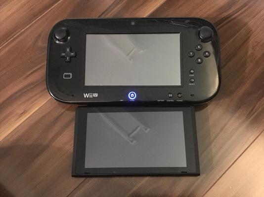 Wii U Gamepad and Switch Console