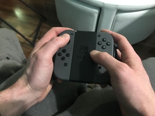 Standard controller set up in my hands
