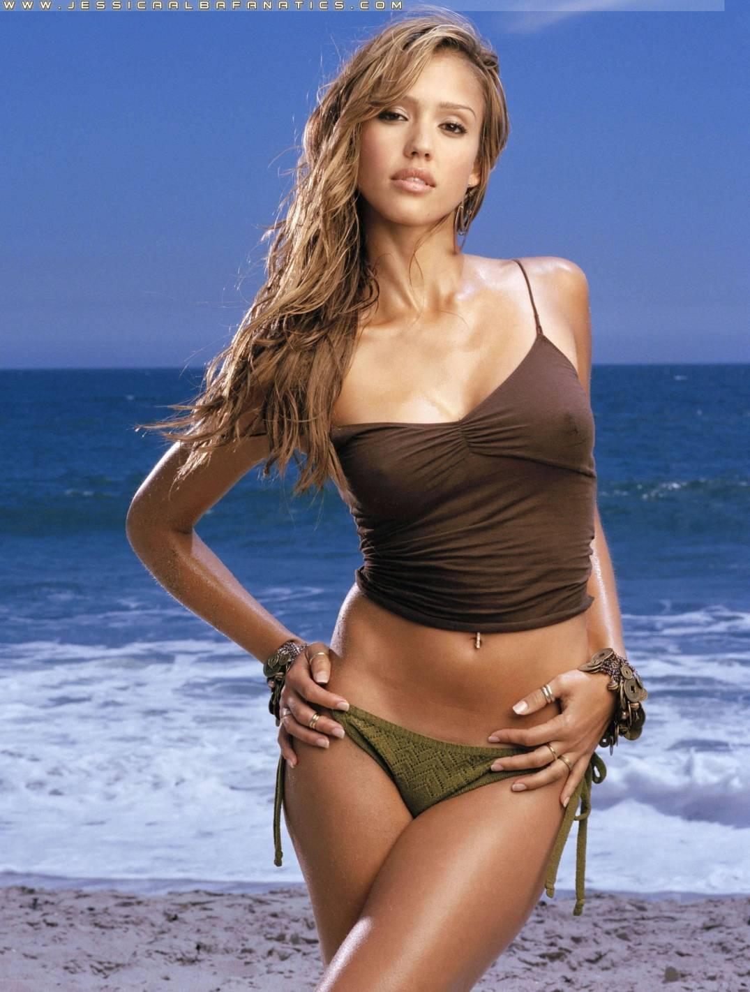 Jessica Alba Beach