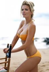Brooklyn Decker orange bikini