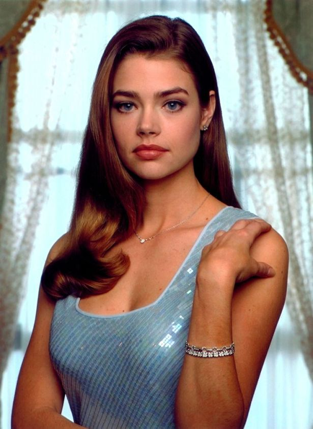Denise Richards blue gown