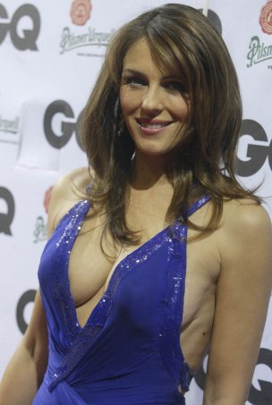 elizabeth hurley blue dress