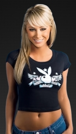 Sara Jean Underwood black t-shirt