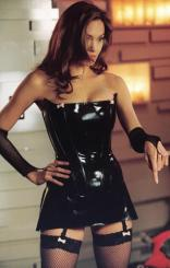 Angelina Jolie mrs smith leather