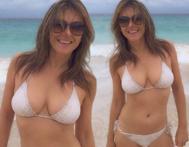 elizabeth hurley seeing double