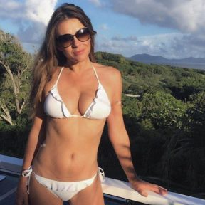 elizabeth hurley white bikini