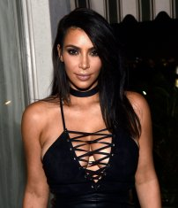 Kim Kardashian in Hot Outfit at GQ Party Celebration in LA