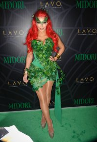 NEW YORK, NY - OCTOBER 29: Kim Kardashian attends the Midori Green Halloween costume party at Lavo on October 29, 2011 in New York City. (Photo by Dave Kotinsky/Getty Images)