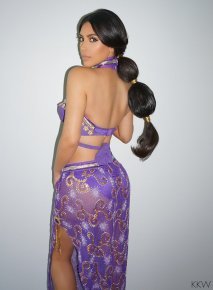 Kim Kardashian Purple Arabian costume