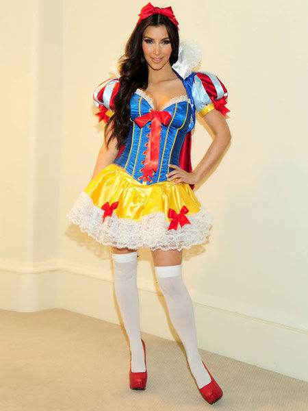 Kim Kardashian Snow White costume
