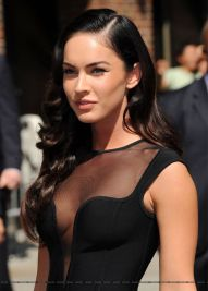 megan fox black dress see through