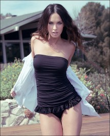 megan fox black swimsuit