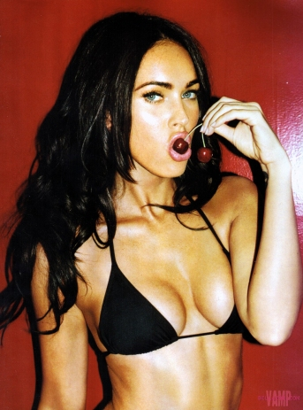 Megan Fox cherry sucker
