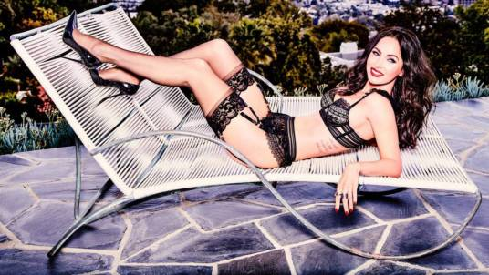 megan fox lingerie lounge chair