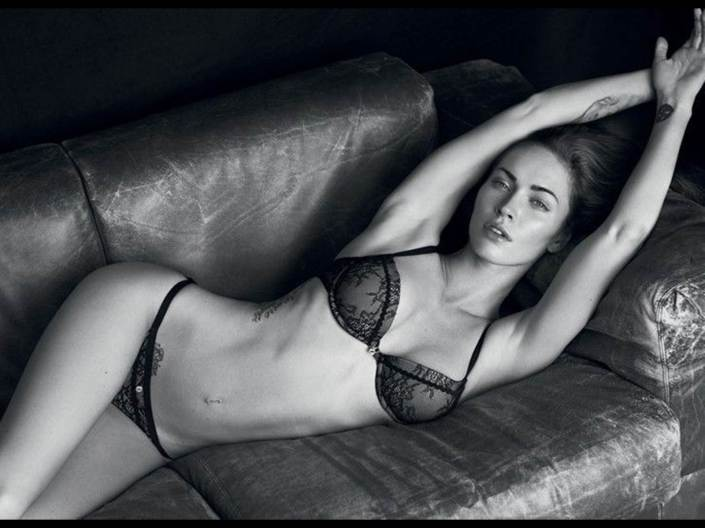 megan fox underwear couch