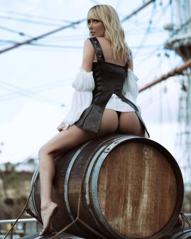 sara jean underwood straddle barrel