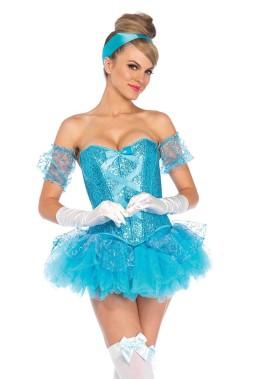 cinderella costume-sexy-m-85025aqua