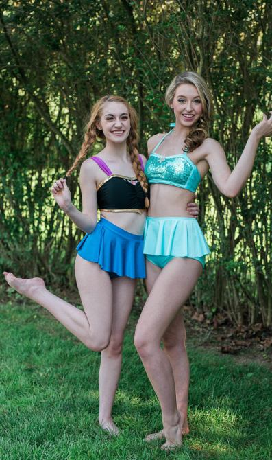 anna and elsa bathing suits