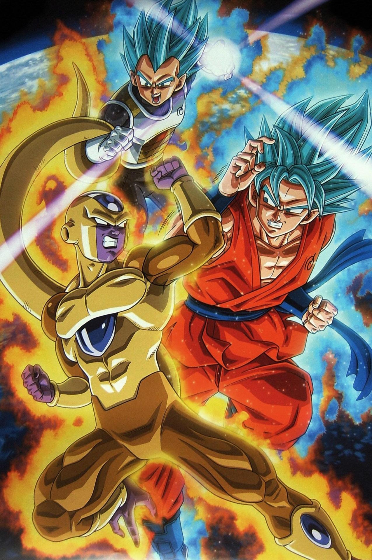dragon ball Goku_and_Vegeta_vs_Frieza
