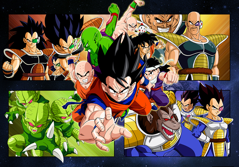 dragon ball saiyan saga