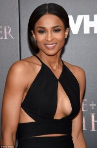 ciara boob black dress