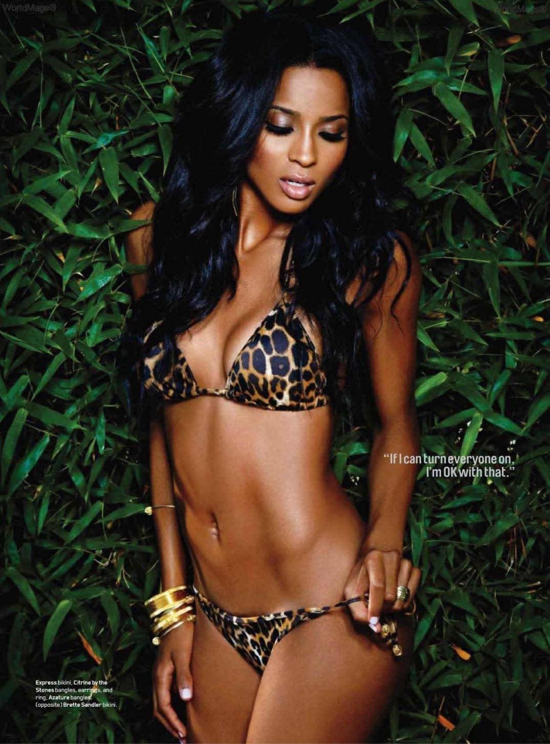 ciara leopard bikini
