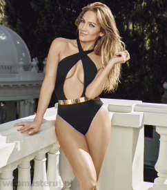 jennifer lopez black swimwear