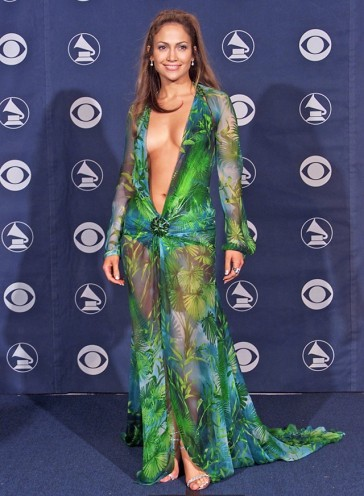 jennifer lopez forest dress