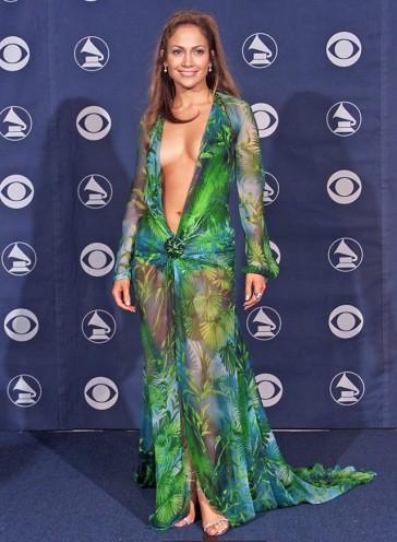 jennifer lopez forest dress