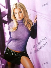 jessica simpson purple sweater