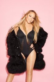 mariah carey black fur