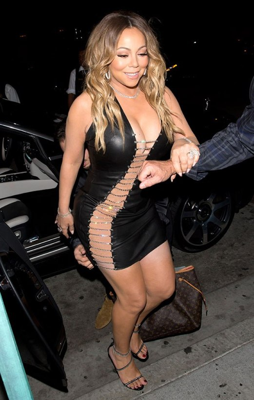 mariah carey out of car