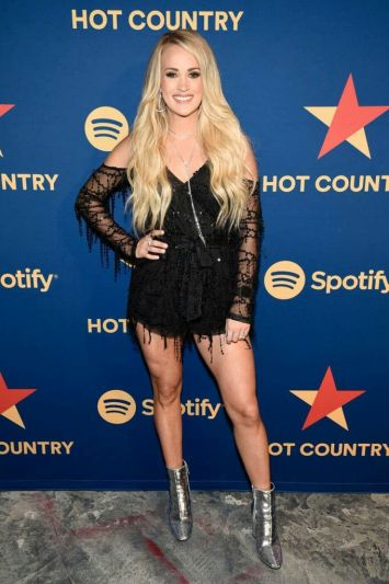 Carrie Underwood black dress pose