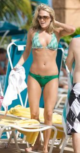 Carrie Underwood green bikini