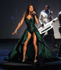 fergie green gown