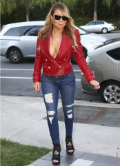 mariah carey red leather