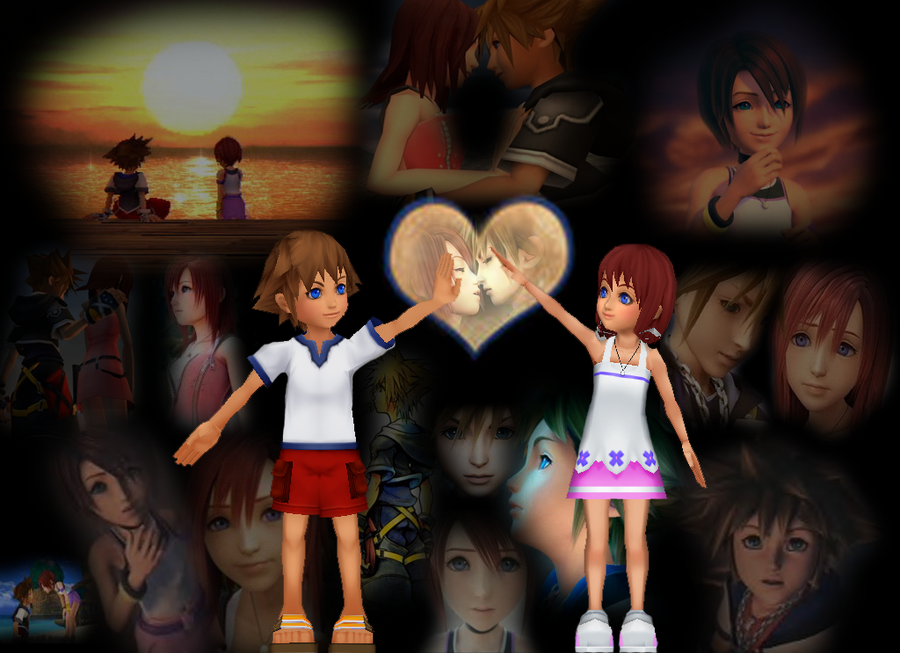 kingdom hearts kairi_and_sora_wallpaper_by_vamp4ever22-d4jlz2d