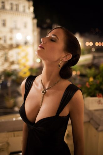vesper black dress