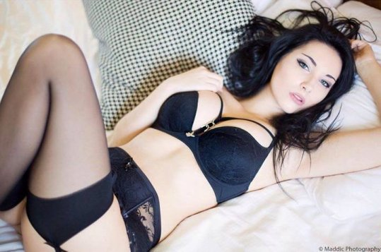 Beke Jacoba black lingerie laying