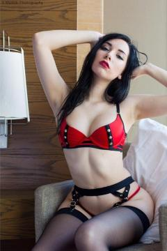 Beke Jacoba red and black lingerie