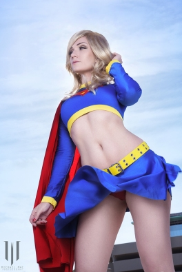 jennifer van damsel super girl skirt blow