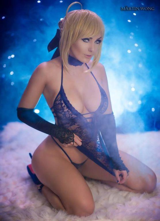 jessica nigri black lingerie