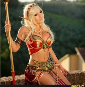 jessica nigri blood elf cosplay