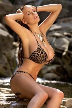 jordan carver leopard bikini