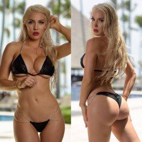 kristen hughey black bikini double