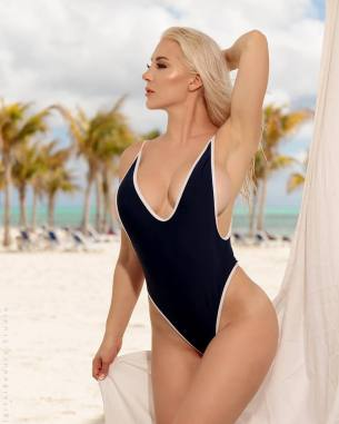 kristen hughey black one piece