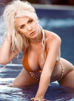 kristen hughey orange bikini 2