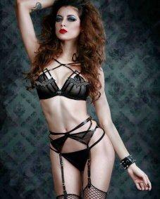 leanna vamp bat lingerie