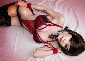 danielle beaulieu red lingerie