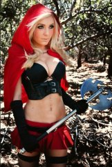 jessica nigri little red riding hood axe